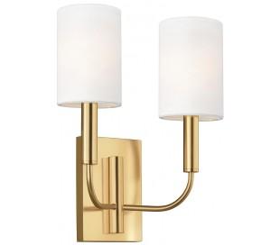 Brianna 2 Væglampe H35,9 cm 2 x E14 - Brændt messing