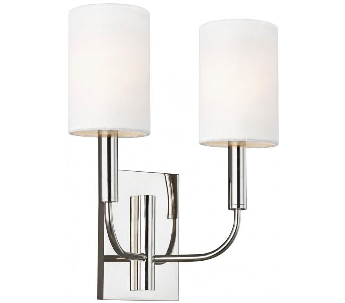 feiss lighting – Brianna 2 væglampe h35,9 cm 2 x e14 - poleret nikkel på lepong.dk