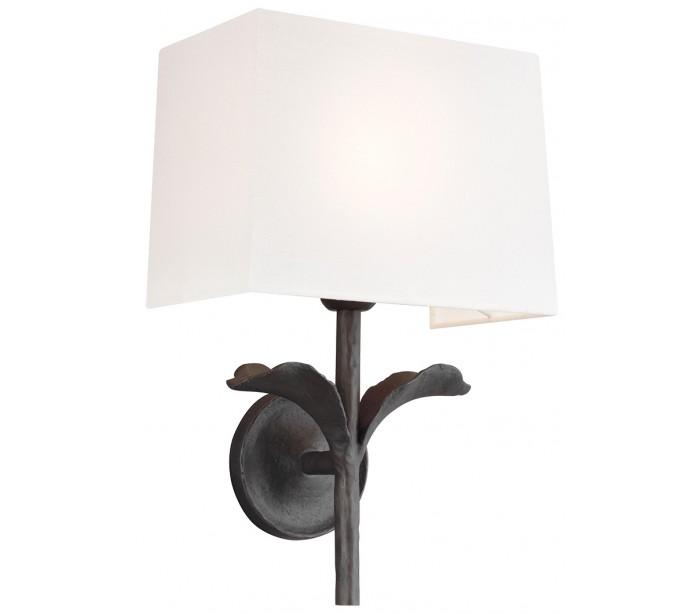 feiss lighting – Georgia 1 væglampe h42,5 cm 1 x e27 - aldret jern fra lepong.dk