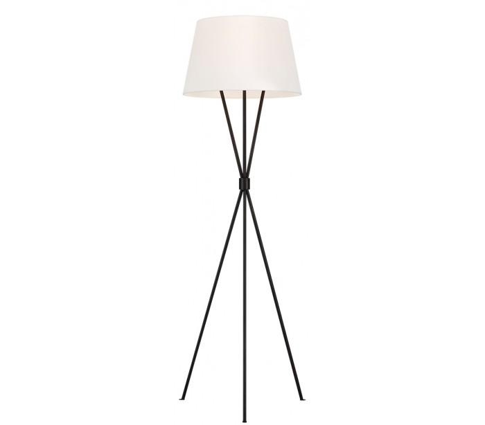 Penny tripod gulvlampe h139,7 cm 1 x e27 - aldret jern/hvid fra feiss lighting på lepong.dk