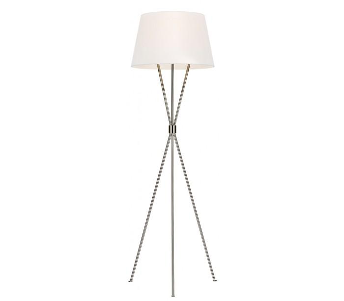 feiss lighting – Penny tripod gulvlampe h139,7 cm 1 x e27 - poleret nikkel/hvid fra lepong.dk