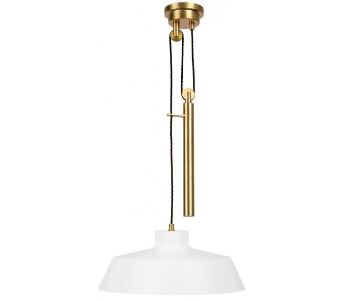 feiss lighting – Candor loftlampe i messing og stål ø43,2 cm 1 x e27 - hvid/brændt messing på lepong.dk