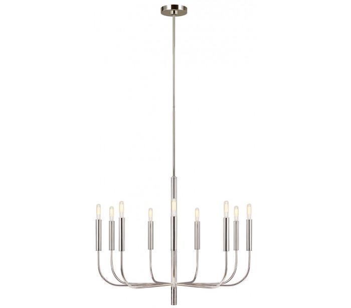 Brianna lysekrone i stål ø75,9 cm 9 x e14 - poleret nikkel fra feiss lighting på lepong.dk