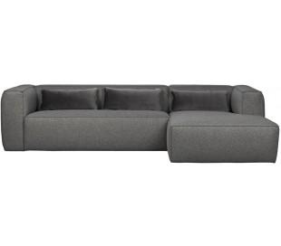 Moderne hjørnesofa i polyester 305 x 175 cm - Grå