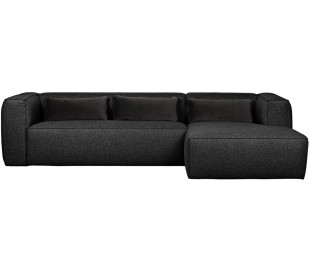 Moderne hjørnesofa i polyester 305 x 175 cm - Mørkegrå