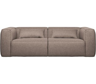 Moderne 3,5 personers sofa i polyester 246 x 96 cm - Taupe