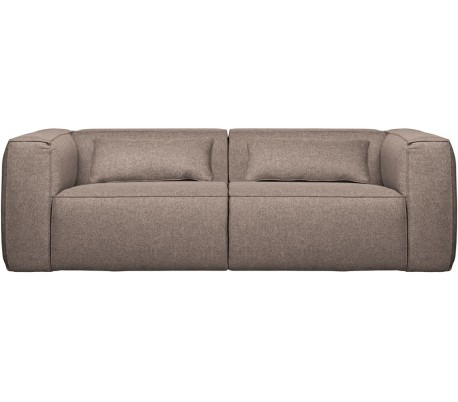 Moderne 3,5 personers sofa i polyester 246 x 96 cm – Taupe
