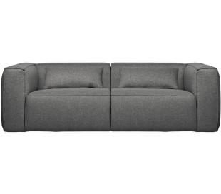 Moderne 3,5 personers sofa i polyester 246 x 96 cm - Grå