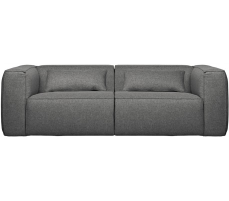 Moderne 3,5 personers sofa i polyester 246 x 96 cm – Grå