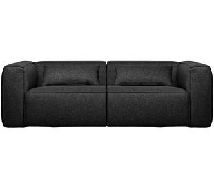Moderne 3,5 personers sofa i polyester 246 x 96 cm - Mørkegrå