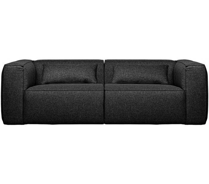 Moderne 3,5 personers sofa i polyester 246 x 96 cm – Mørkegrå
