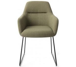 2 x Kinko Spisebordsstole H84 cm polyester - Sort/Jægergrøn