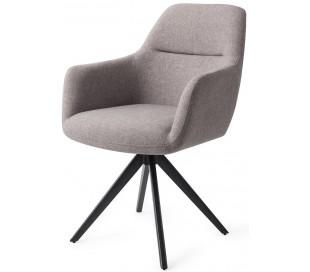 2 x Kinko Rotérbare Spisebordsstole H84 cm polyester - Sort/Earl grey