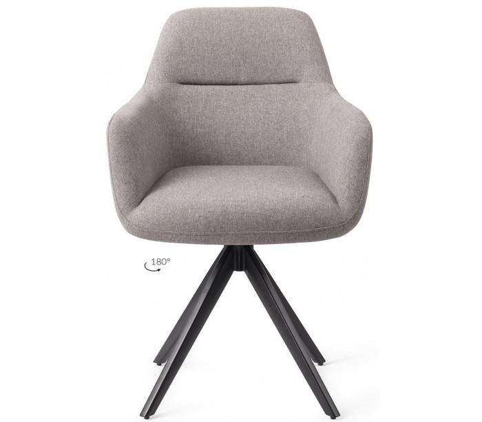 2 x kinko rotérbare spisebordsstole h84 cm polyester - sort/earl grey fra jesper home på lepong.dk
