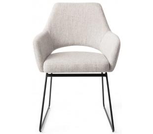 2 x Yanai Spisebordsstole H83,5 cm polyester - Sort/Duegrå