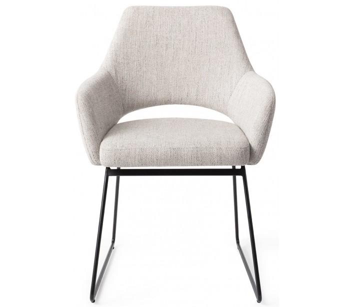 jesper home – 2 x yanai spisebordsstole h83,5 cm polyester - sort/duegrå på lepong.dk