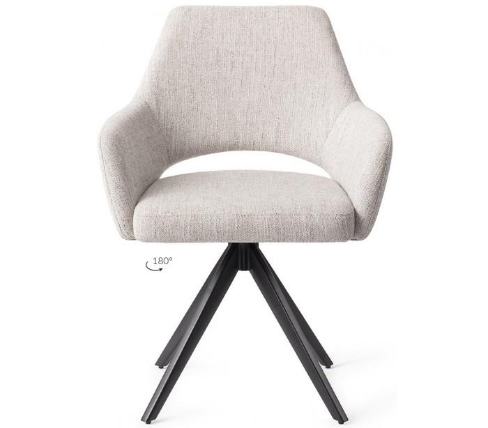 2 x yanai rotérbare spisebordsstole h86 cm polyester - sort/duegrå fra jesper home på lepong.dk