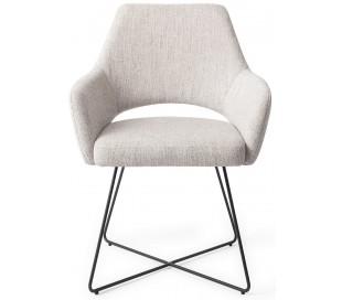 2 x Yanai Spisebordsstole H85 cm polyester - Sort/Duegrå