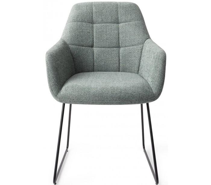 jesper home 2 x noto spisebordsstole h84,5 cm polyester - sort/teal på lepong.dk