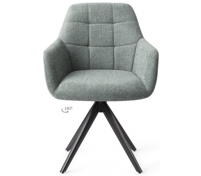 jesper home 2 x noto rotérbare spisebordsstole h86 cm polyester - sort/teal fra lepong.dk
