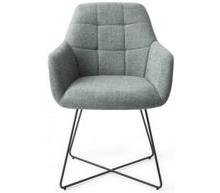 2 x Noto Spisebordsstole H84,5 cm polyester - Sort/Teal