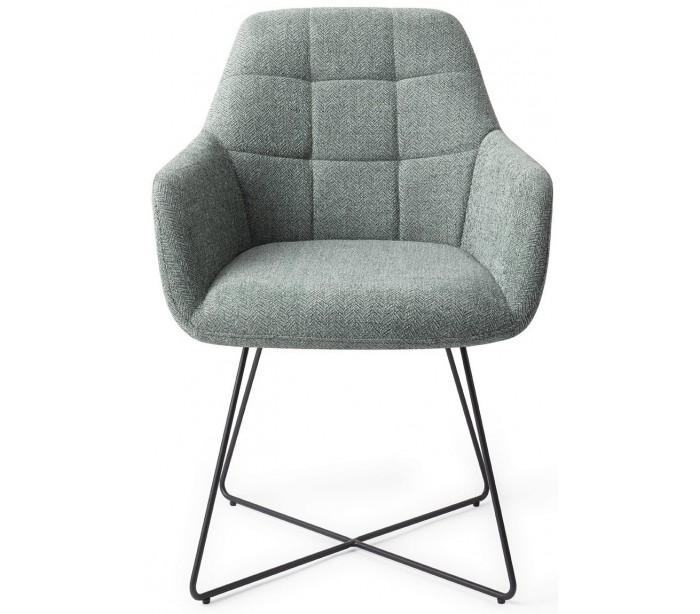 2 x noto spisebordsstole h84,5 cm polyester - sort/teal fra jesper home på lepong.dk