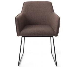 2 x Hofu Spisebordsstole H81 cm polyester - Sort/Lerbrun
