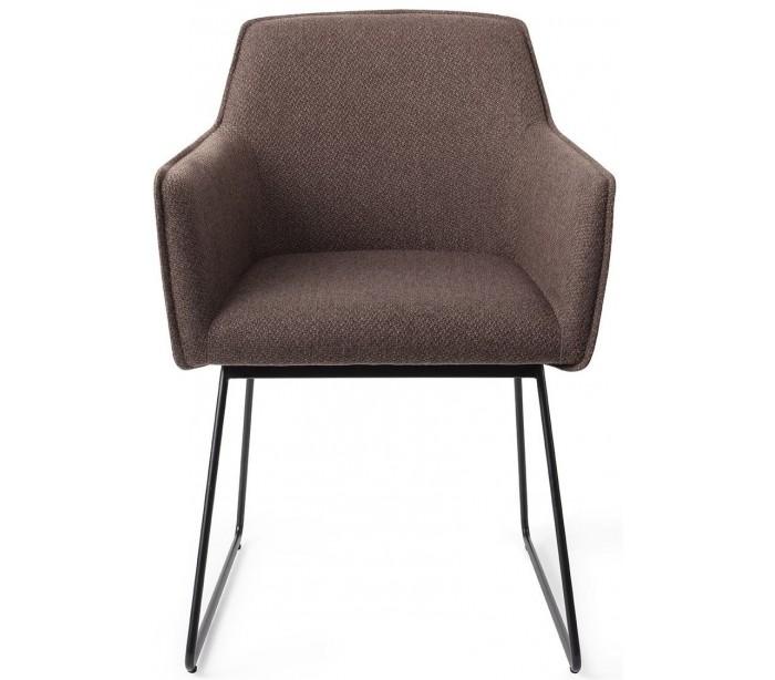 jesper home – 2 x hofu spisebordsstole h81 cm polyester - sort/lerbrun på lepong.dk