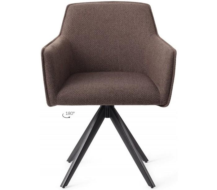 jesper home – 2 x hofu rotérbare spisebordsstole h82 cm polyester - sort/lerbrun på lepong.dk