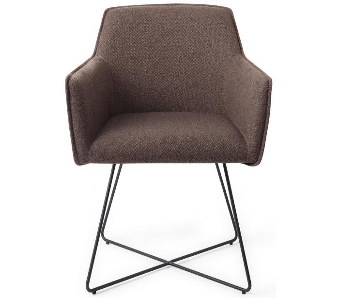 2 x hofu spisebordsstole h81 cm polyester - sort/lerbrun fra jesper home fra lepong.dk