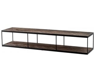 La Varenne sofabord i egetræ og metal 190 x 45 cm - Sort/Rustik eg
