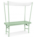 Pim havebord med dække i birketræ 168 x 72 cm - Grøn