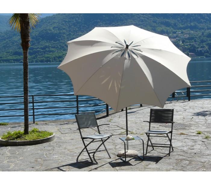 Maffei bea parasol i polyester og stål ø280 cm - natur fra maffei fra lepong.dk