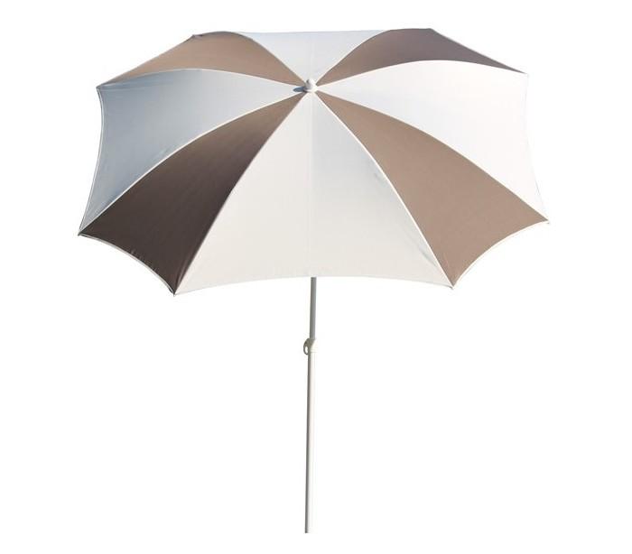 Maffei malta parasol i polyester og stål ø200 cm - hvid/taupe fra där lighting fra lepong.dk