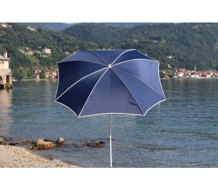 Maffei Malta parasol i polyester og stål Ø200 cm - Blå