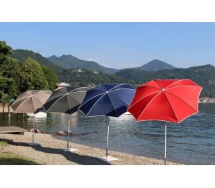Maffei Malta parasol i polyester og stål Ø200 cm - Rød