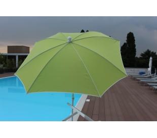 Maffei Malta parasol i texma og stål Ø200 cm - Lime