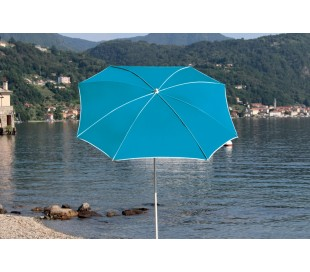 Maffei Malta parasol i texma og stål Ø200 cm - Turkis