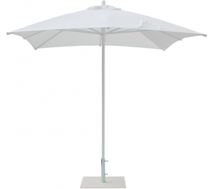 Maffei Kronos parasol i polyester og aluminium 225 x 225 cm - Hvid