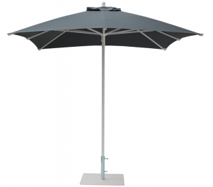 Maffei Kronos parasol i polyester og aluminium 225 x 225 cm - Antracit