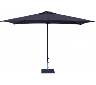 Maffei Kronos parasol i polyester og aluminium 200 x 300 cm - Antracit