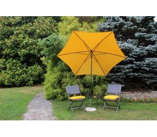 Maffei Kronos parasol i polyester og stål Ø250 cm - Gul