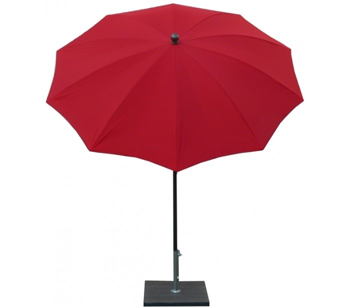 maffei – Maffei kronos parasol i polyester og stål ø200 cm - rød på lepong.dk