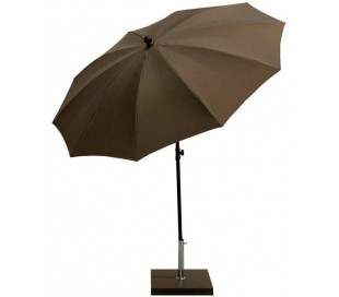 Maffei Kronos parasol i polyester og stål Ø200 cm - Taupe