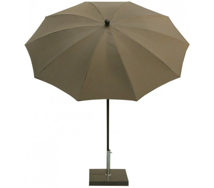 maffei – Maffei kronos parasol i polyester og stål ø200 cm - taupe på lepong.dk