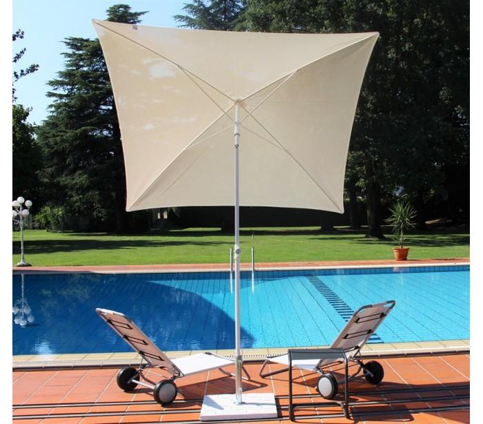 Maffei pool parasol i batyline og stål 180 x 180 cm - hvid fra maffei fra lepong.dk