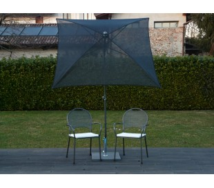 Maffei Pool parasol i batyline og stål 180 x 180 cm - Sort