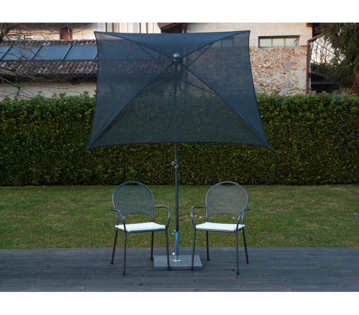 Maffei pool parasol i batyline og stål 180 x 180 cm - sort fra maffei på lepong.dk