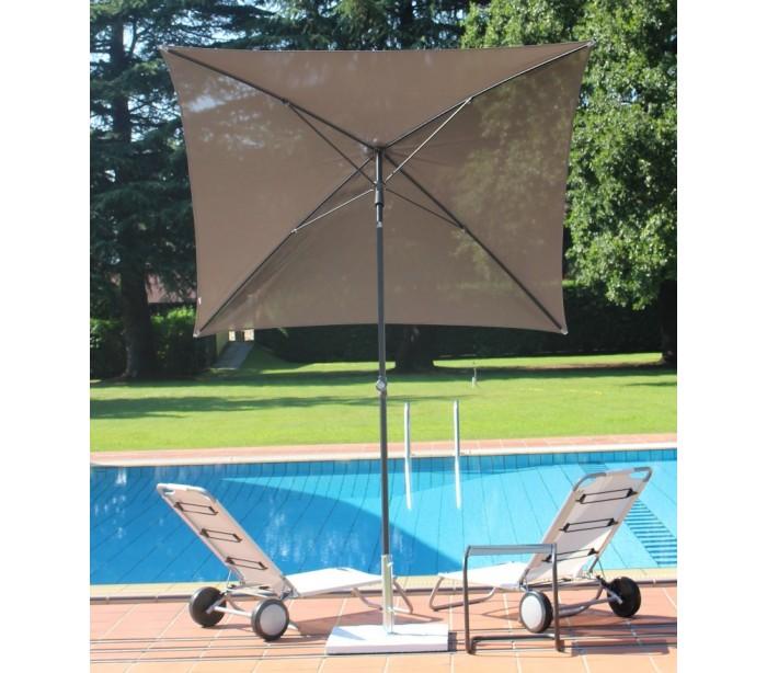 maffei – Maffei pool parasol i batyline og stål 180 x 180 cm - taupe fra lepong.dk