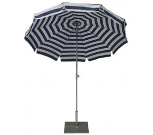 Maffei Inox parasol i dralon og stål Ø200 cm - Hvid/Blå